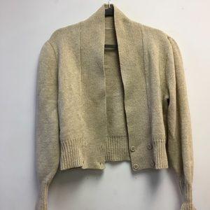 Beige wool cardigan